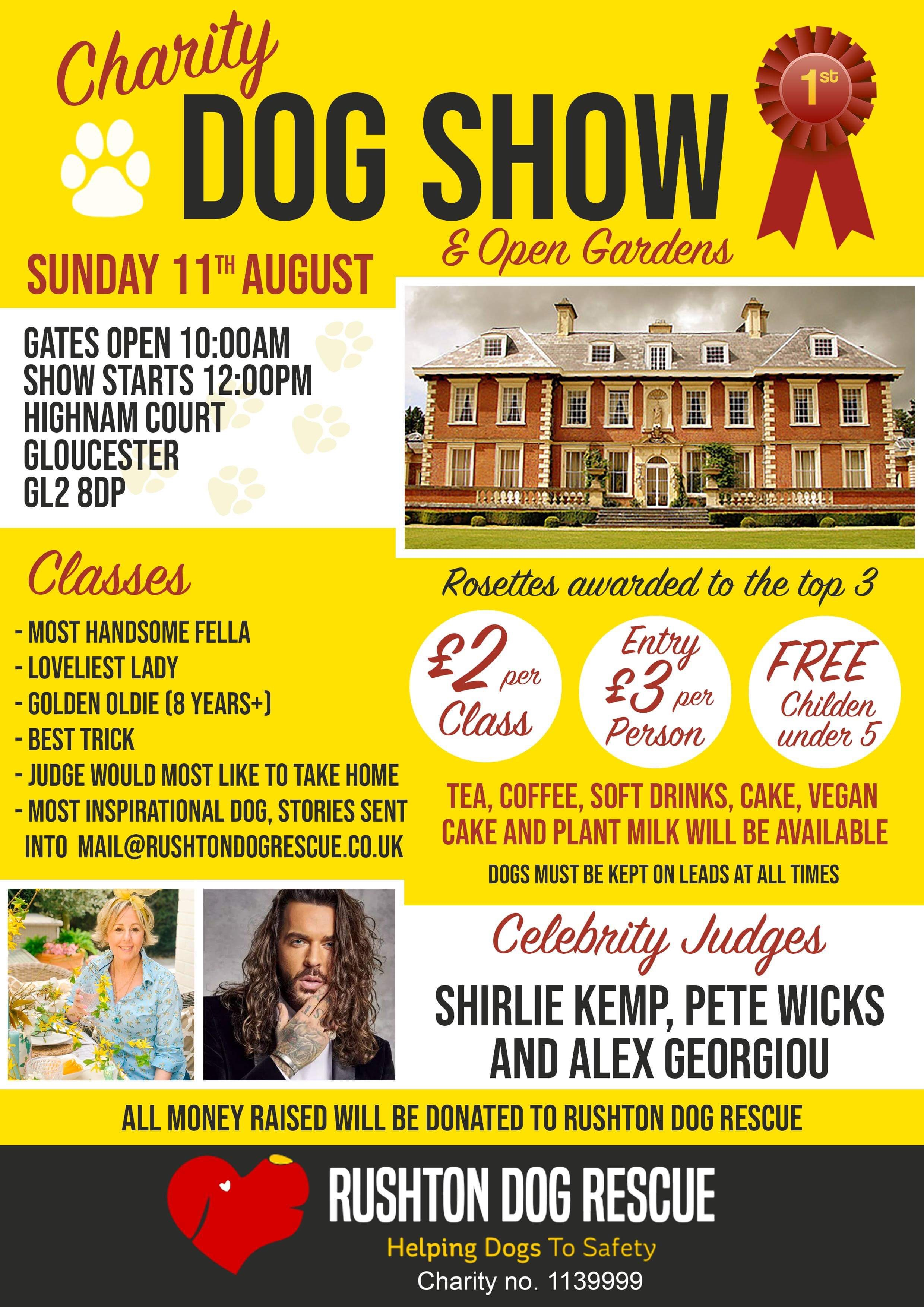 Charity Dog Show - Sunday August 11th 2019